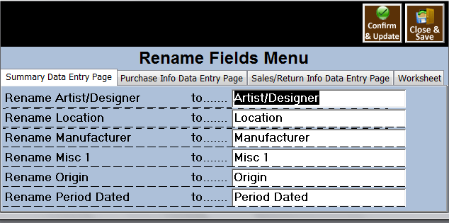 Antique Mall Pos Software Prep Menu